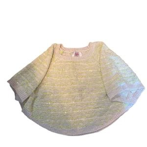 Justice shawl sweater size 8/10